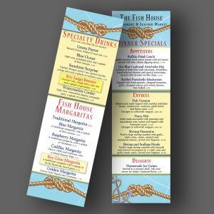 The Fish House Specials menu