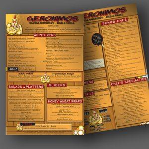 Geronimos menu