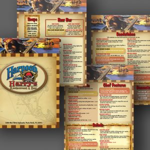 Harpoon Harry's menu