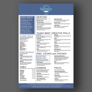 Quarterdeck menu