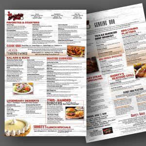 Shorty's menu